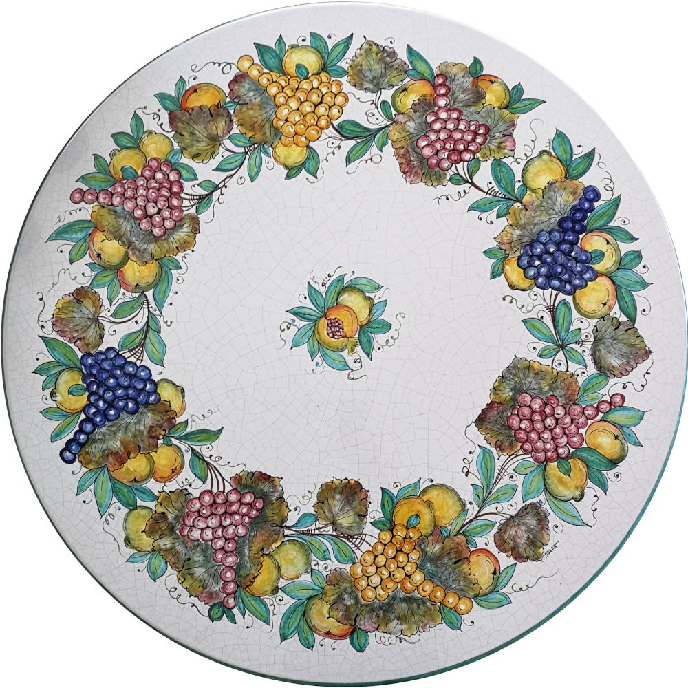 Tavolo in Ceramica di Deruta decoro Frutta