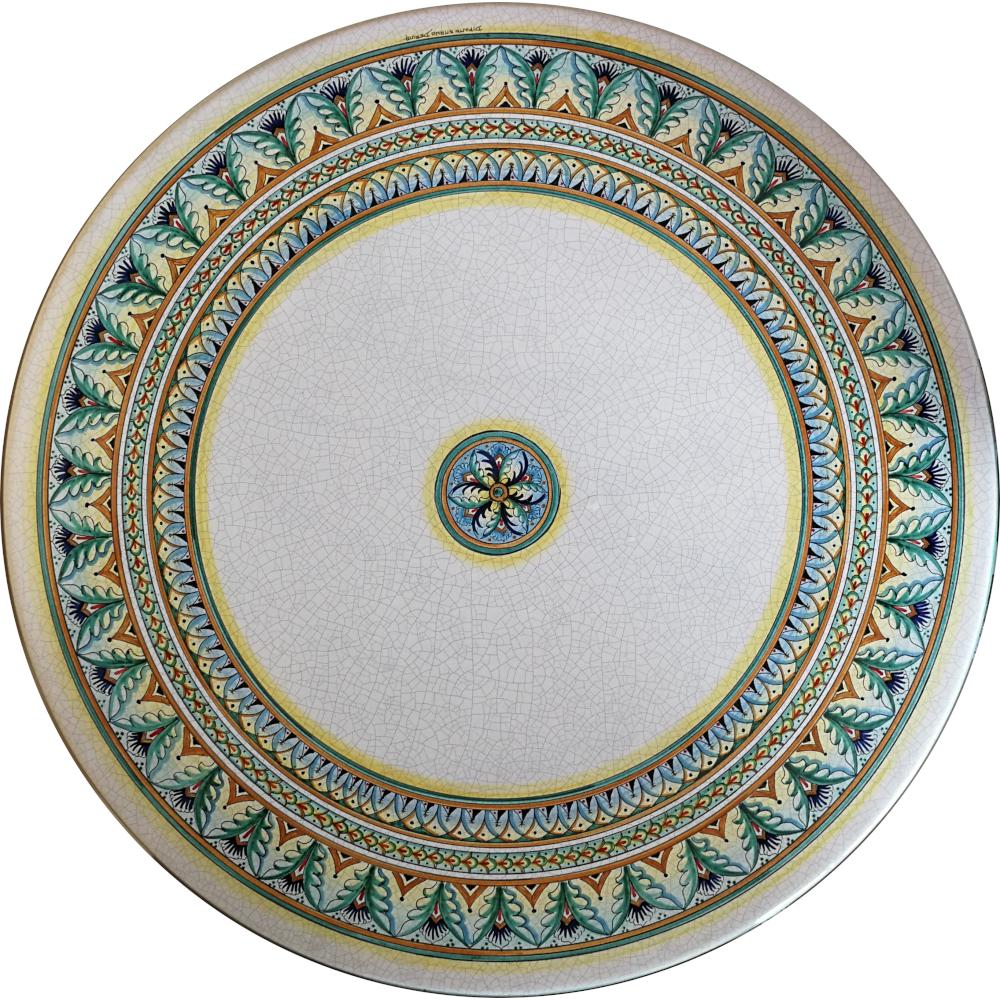 Tavolo in Ceramica di Deruta decoro \